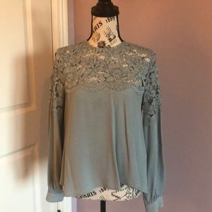 H&M stunning Dusty blue lace top.